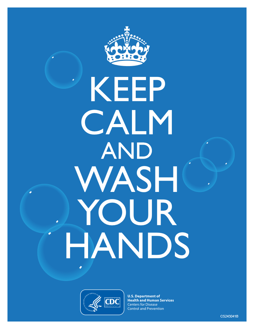 cdc keep calm and wash your hands